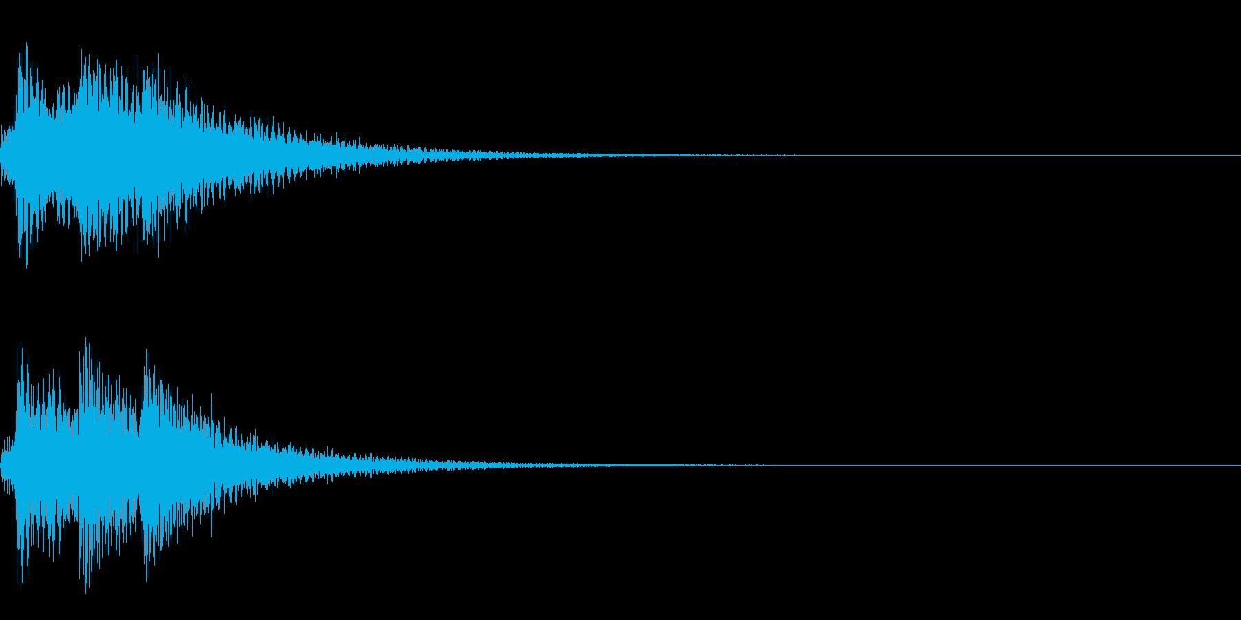 生ピアノ 重厚な和声 エンディング 終了の再生済みの波形