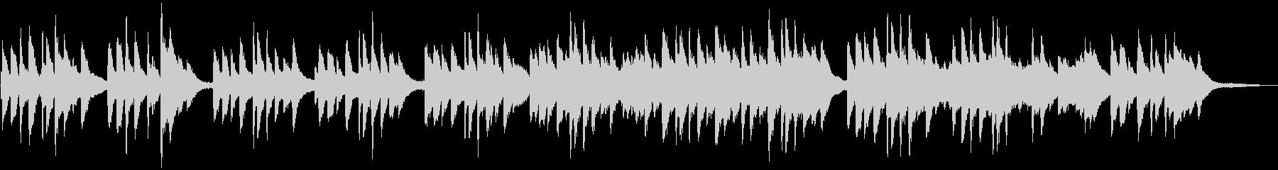 優しくシンプル レトロ・アナログなピアノの未再生の波形