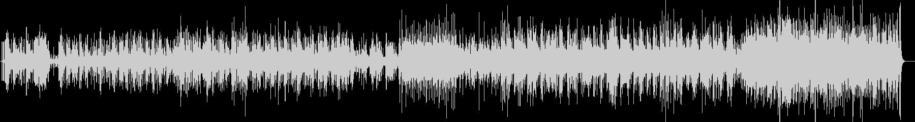 フラメンコのリズムを基調とした爽やかな曲の未再生の波形