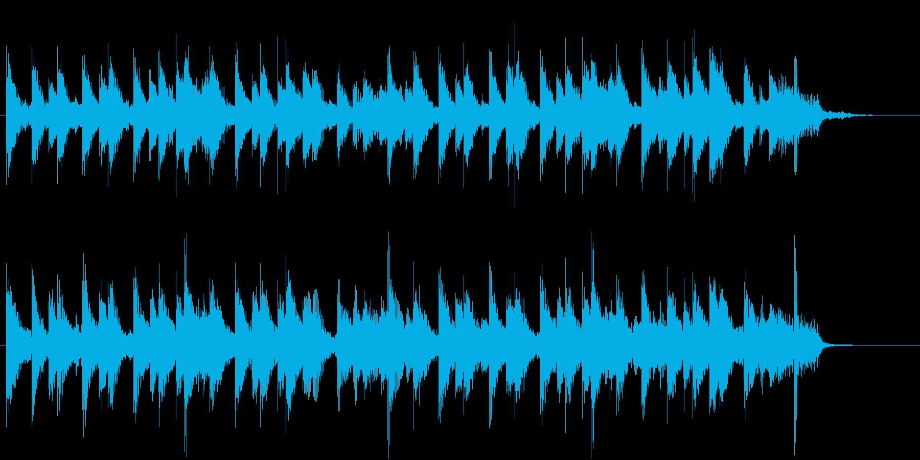 ハッピーで穏やかなアコースティックBGMの再生済みの波形
