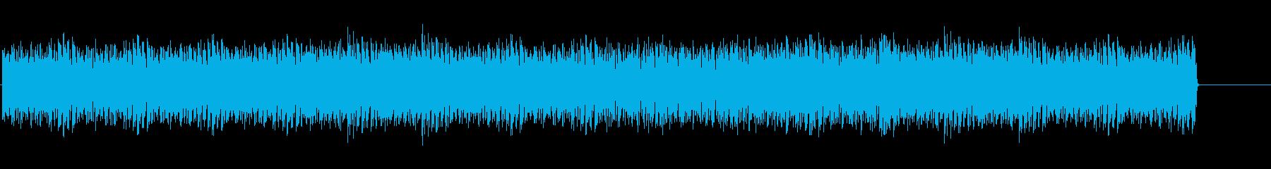 スピード感のあるテクノ(メニュー画面)の再生済みの波形