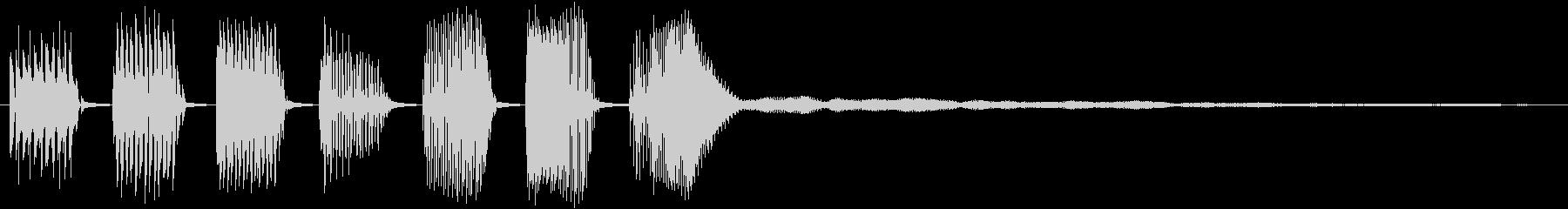 【クイズ】キレの良い出題音2(残響付)の未再生の波形