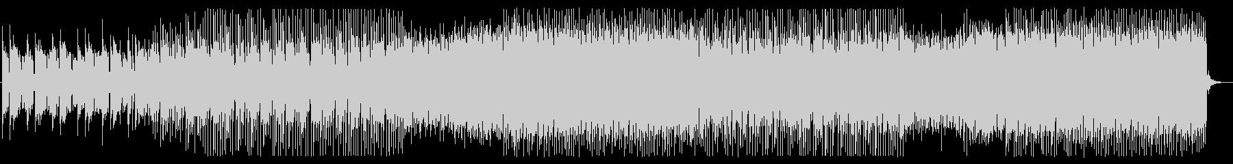 ピアノとシンセサイザーの元気なEDMの未再生の波形