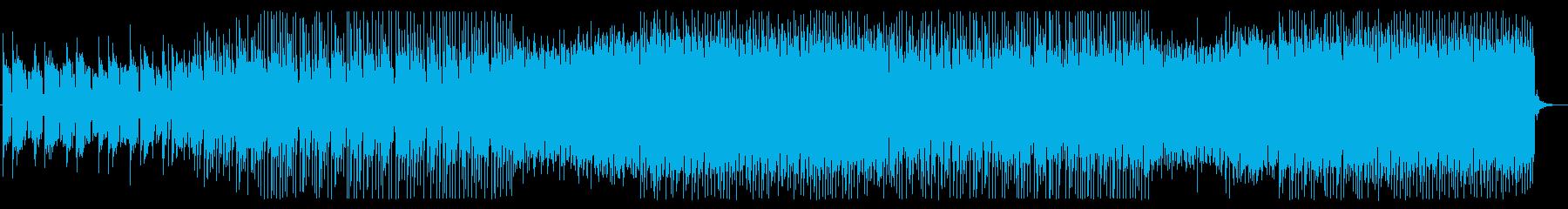 ピアノとシンセサイザーの元気なEDMの再生済みの波形