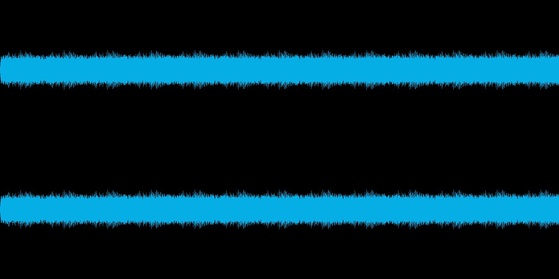 公園で鳴くセミの音の再生済みの波形
