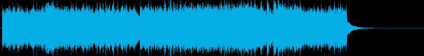 レトロなヒーローのオープニングジングルbの再生済みの波形