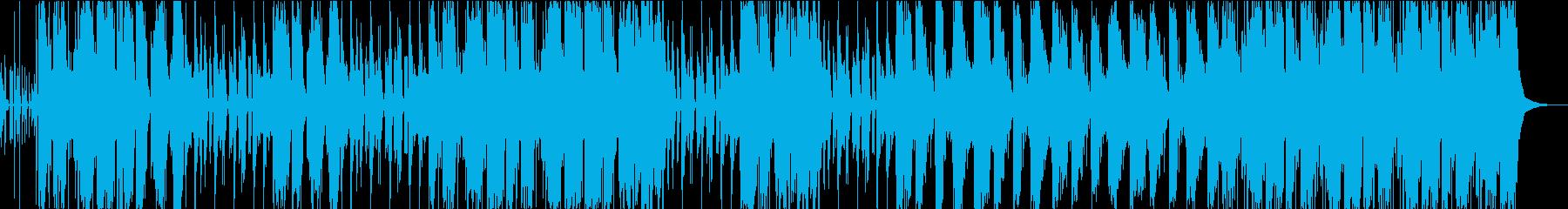 重低音なHIPーHOPサウンドの再生済みの波形