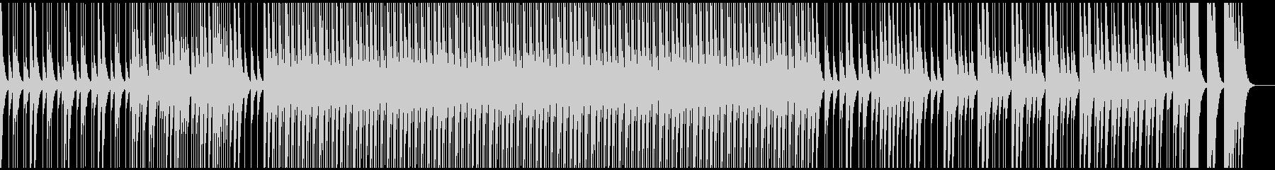 ウッドパーカッションによるリズムのいい曲の未再生の波形