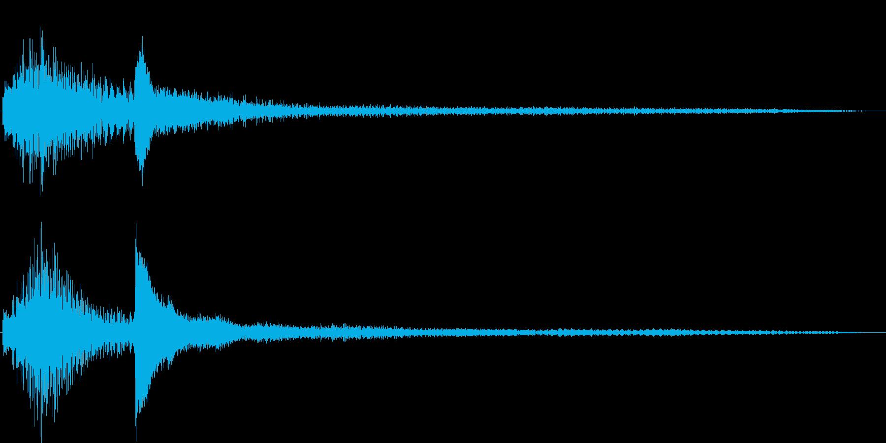 暗いマリンバとピアノ音の再生済みの波形