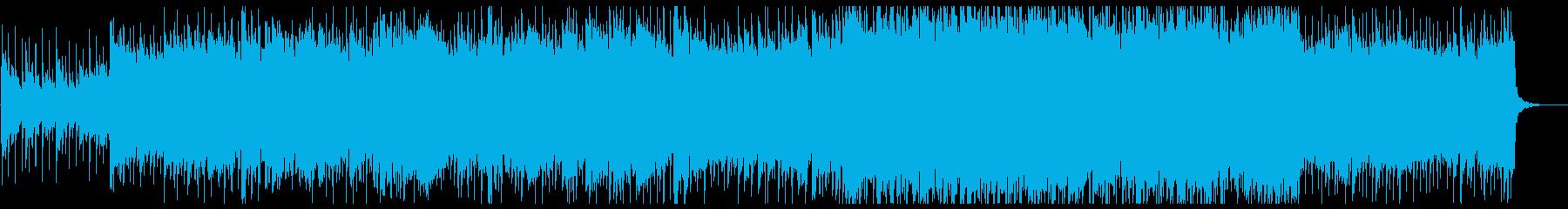 バイオリンの爽やかなポップロックの再生済みの波形