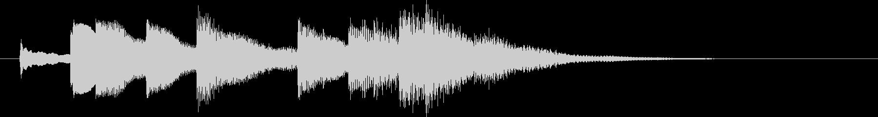 ベルの音で始まる優しいジングルの未再生の波形