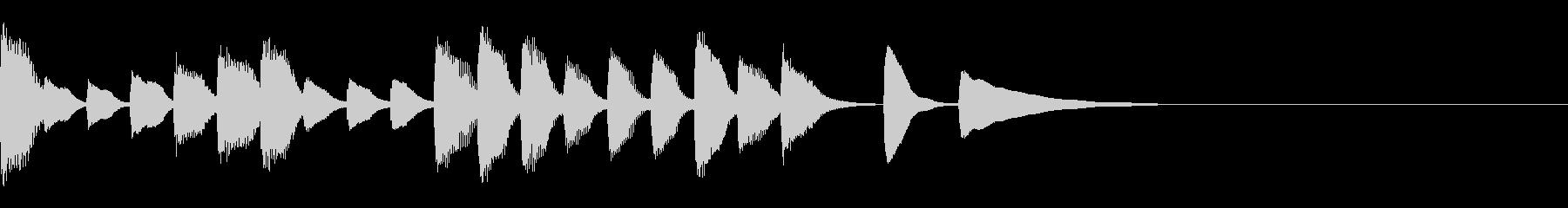 10秒以下のジングルの未再生の波形