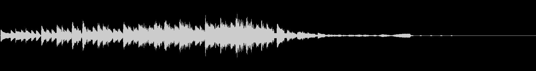 幻想的で音が変化するシンセサウンドロゴの未再生の波形