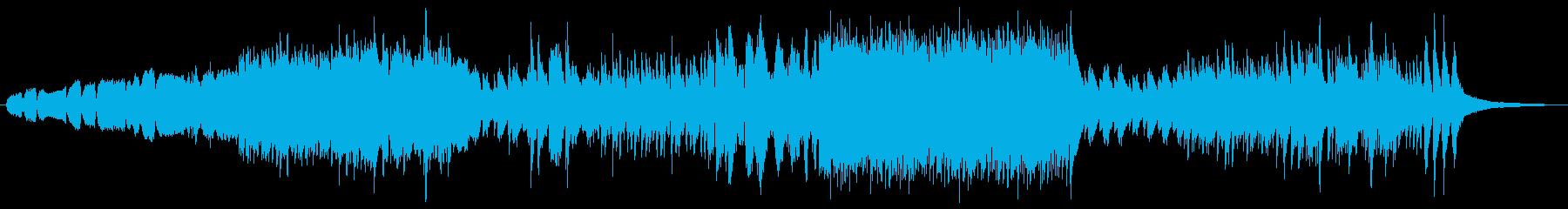 ストリングスメインの寂しさを感じる曲の再生済みの波形