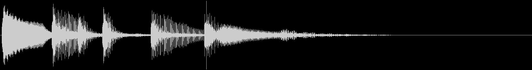 アニメ系失敗効果音4の未再生の波形