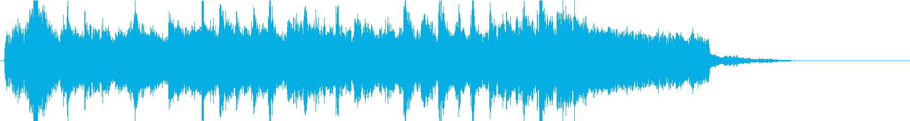 クリスマスっぽいジングルの再生済みの波形