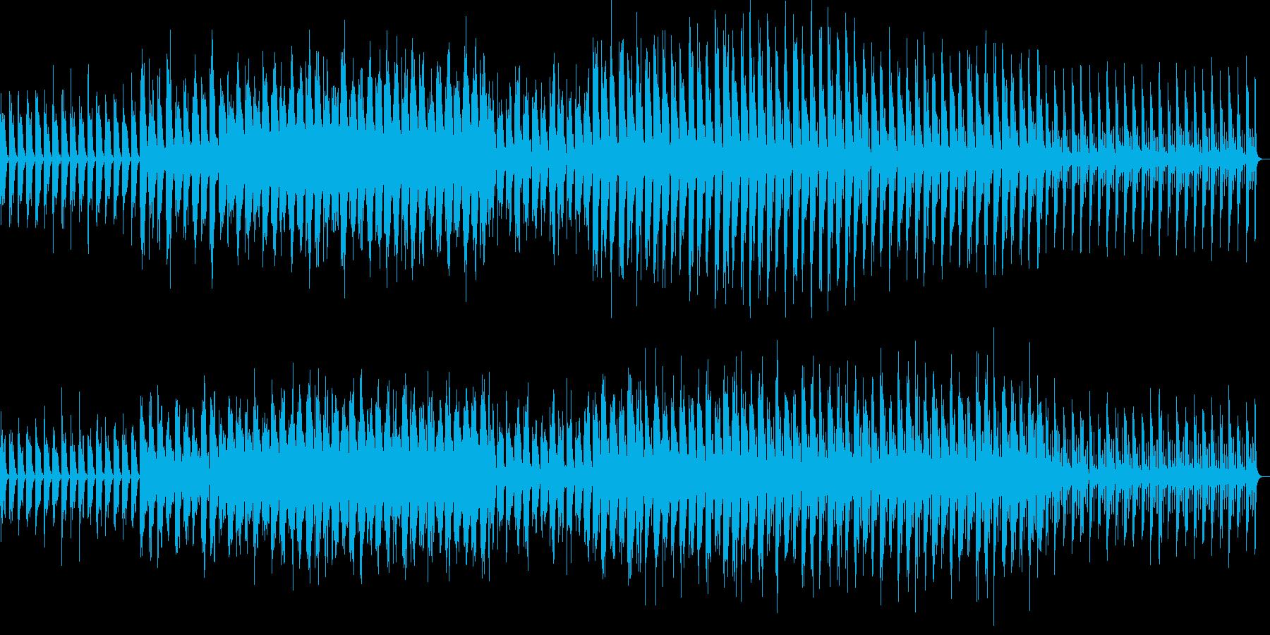 少しづつ変化するメロディの再生済みの波形