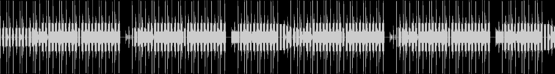本格的ファミコンのブルース・ループの未再生の波形