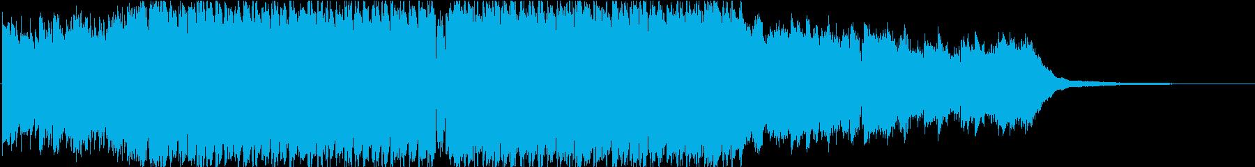 1分ver、陽気、楽しい、メロディックの再生済みの波形