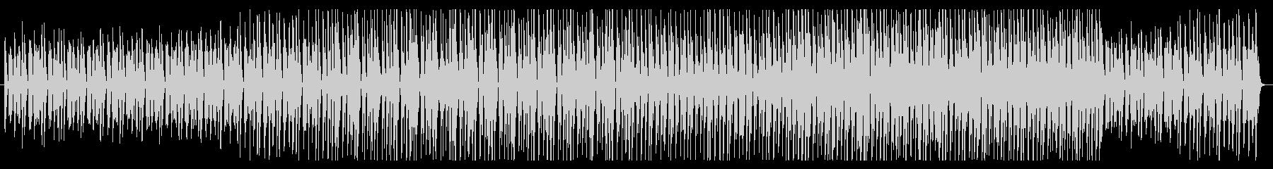 グルーヴ感のあるお洒落なBGMの未再生の波形