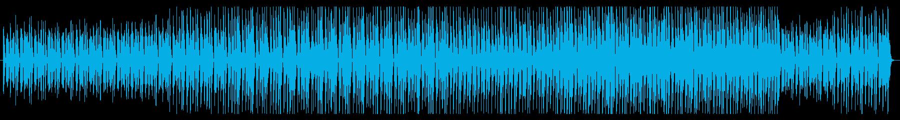 グルーヴ感のあるお洒落なBGMの再生済みの波形