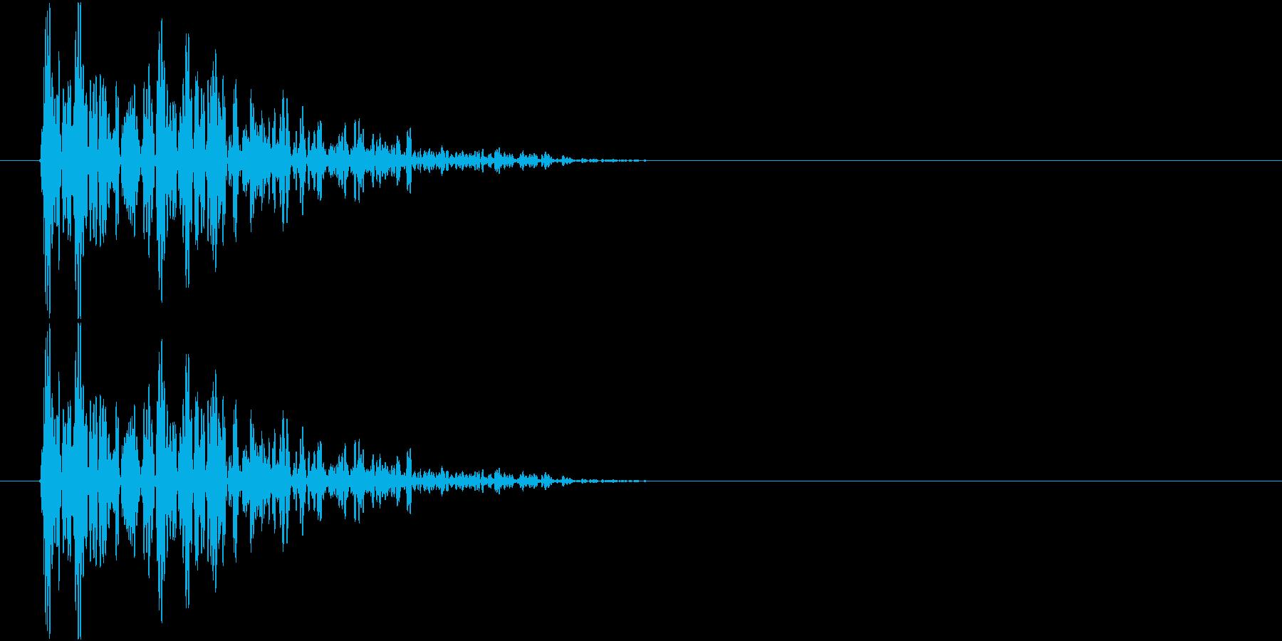 ドムン(衝撃・打撃音)の再生済みの波形
