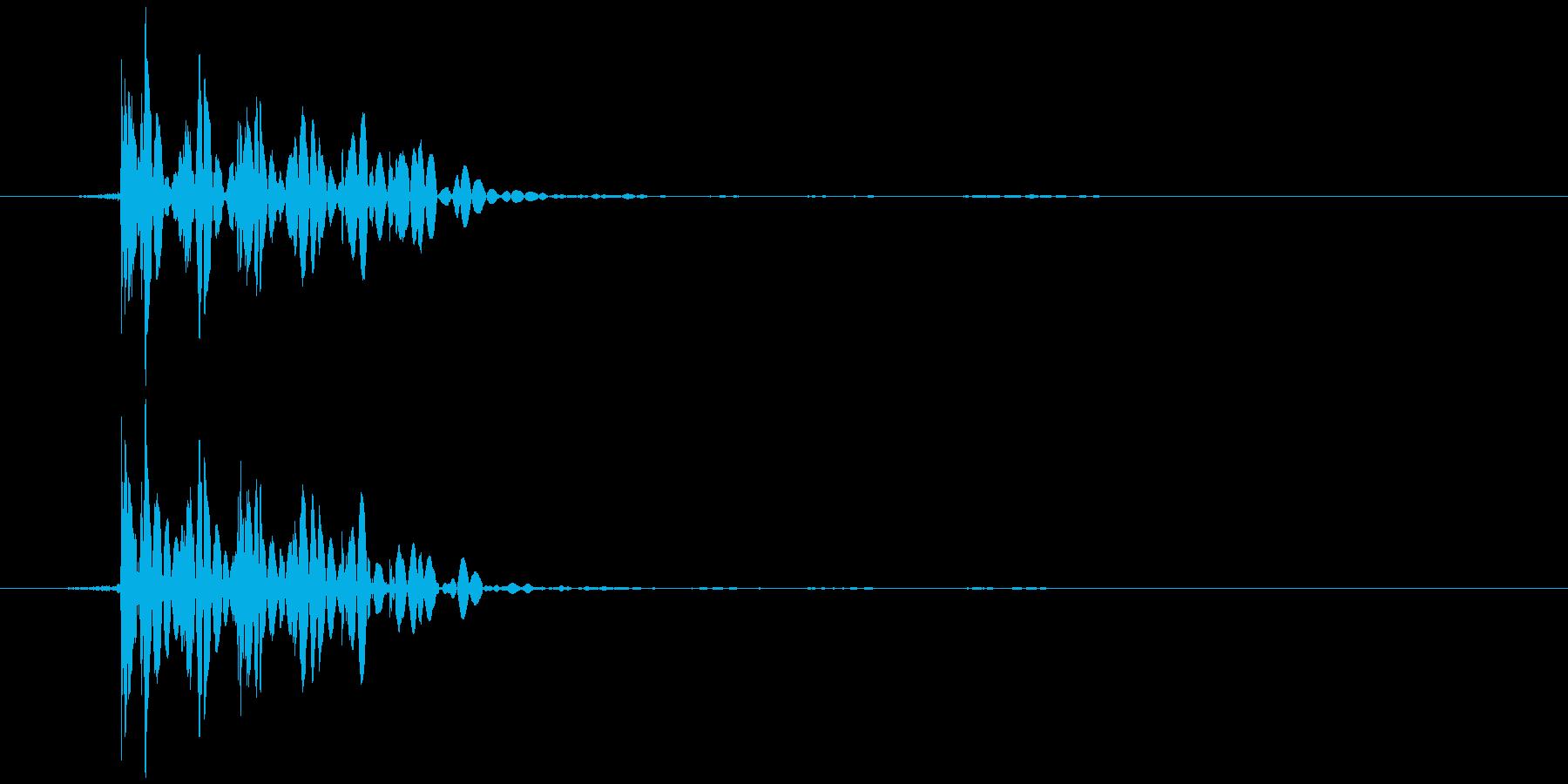 おなら、屁 (低く、とても短い) ブッの再生済みの波形