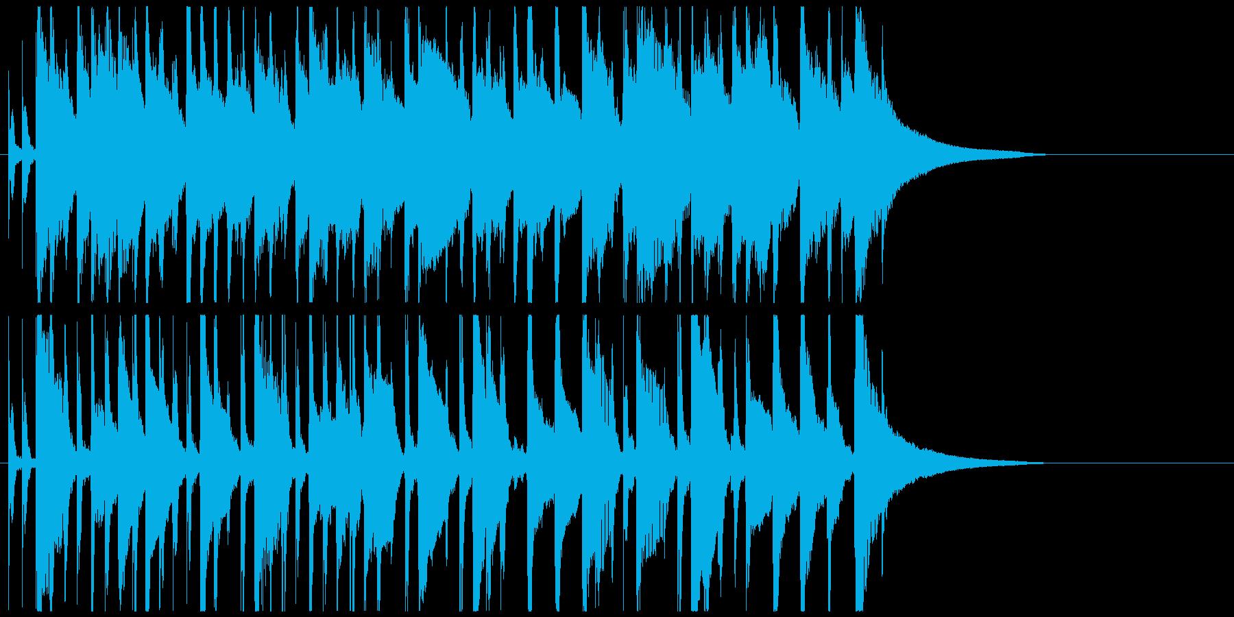 かわいいジングル 明るいほのぼのポップの再生済みの波形
