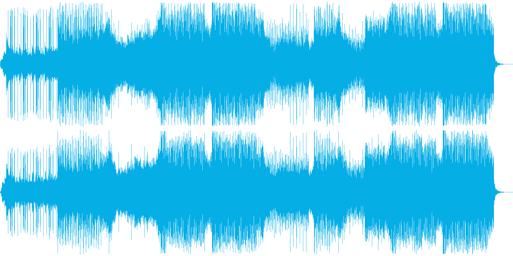爽やかな南国風トロピカルハウスの再生済みの波形