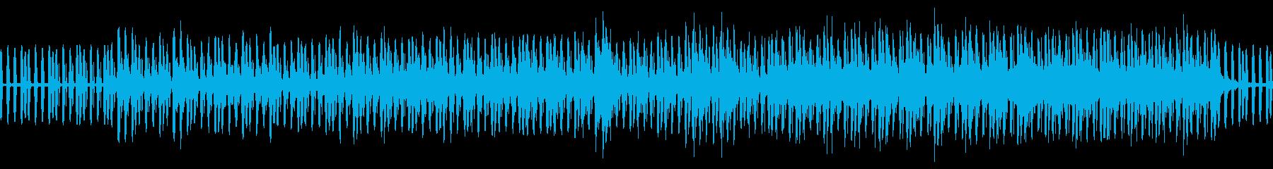 人工的な淡々とした印象のポップスの再生済みの波形