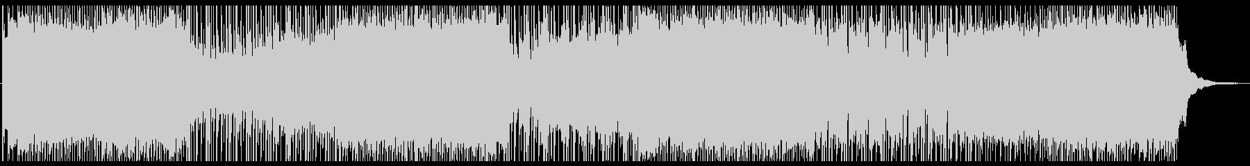 勢いのあるパンク系ロックBGMの未再生の波形