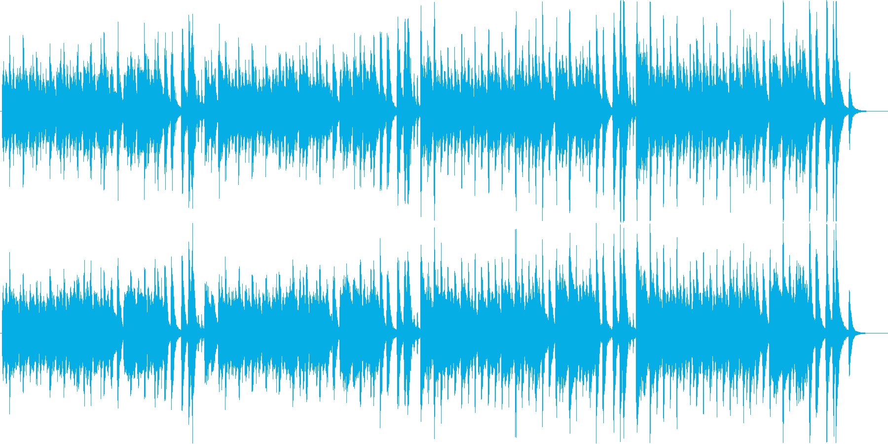賑々しいデキシーランドのラグタイム音楽の再生済みの波形