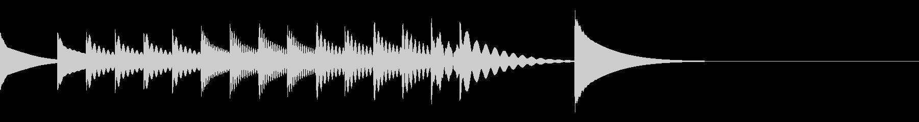 コミカルなクッキング・アニメ木琴ジングルの未再生の波形
