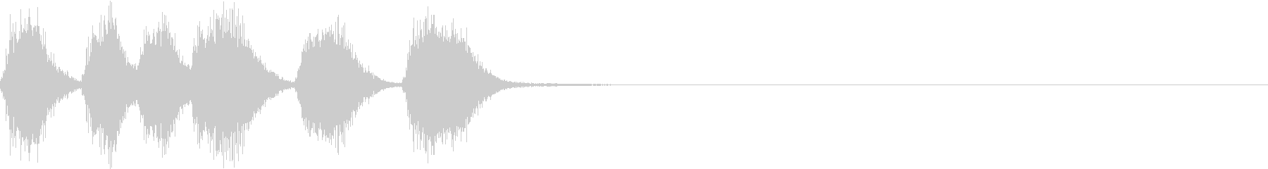 シンプル トランペット ファンファーレEの未再生の波形