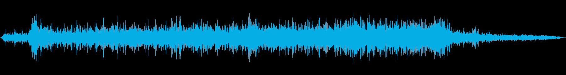 ジェットのオン、実行、オフの再生済みの波形
