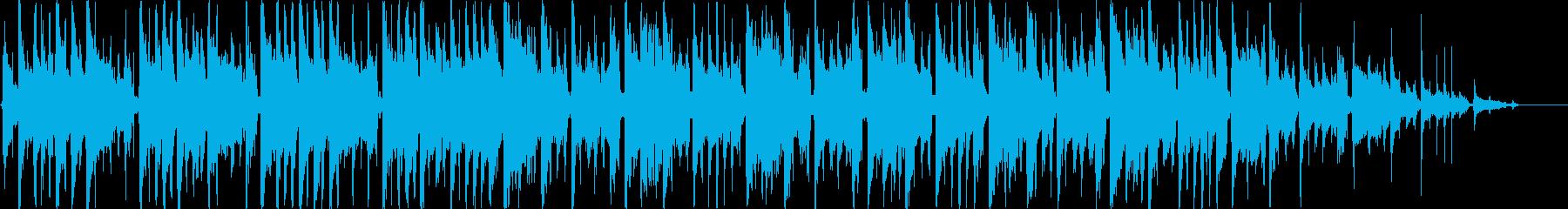 女性的でガーリーなカフェ音楽のイメージの再生済みの波形