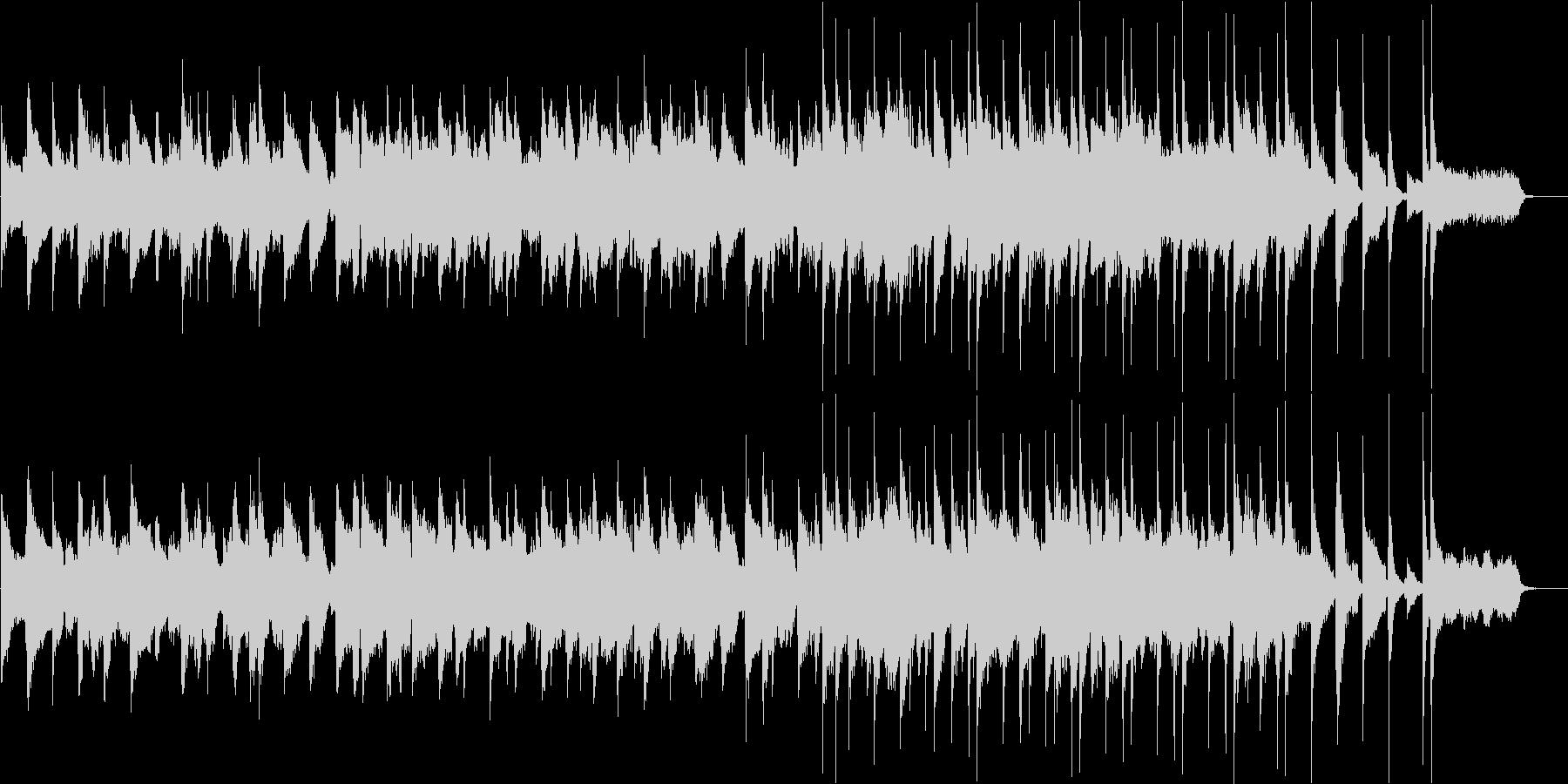 サックスとピアノのお洒落なジャズバラードの未再生の波形
