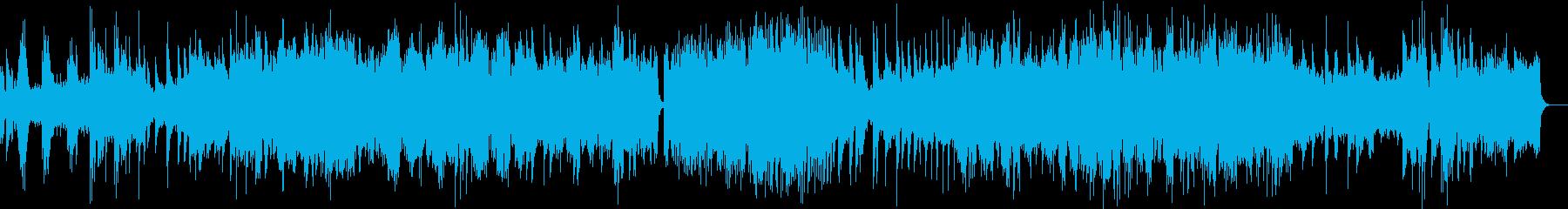 繊細で幻想的なピアノシンセの再生済みの波形