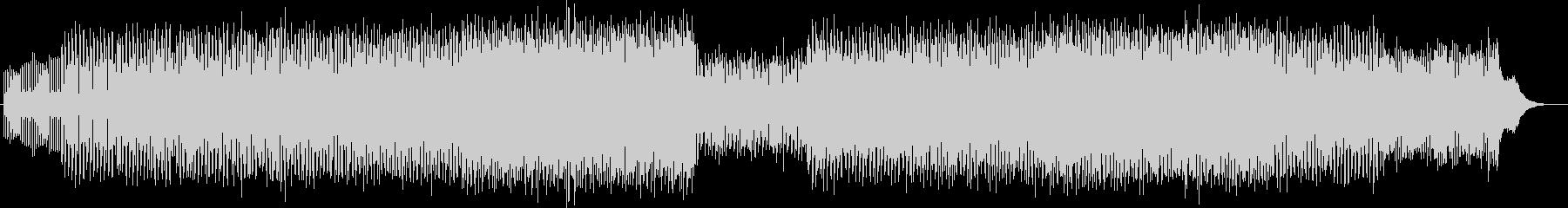 幻想的でアップテンポなテクノミュージックの未再生の波形