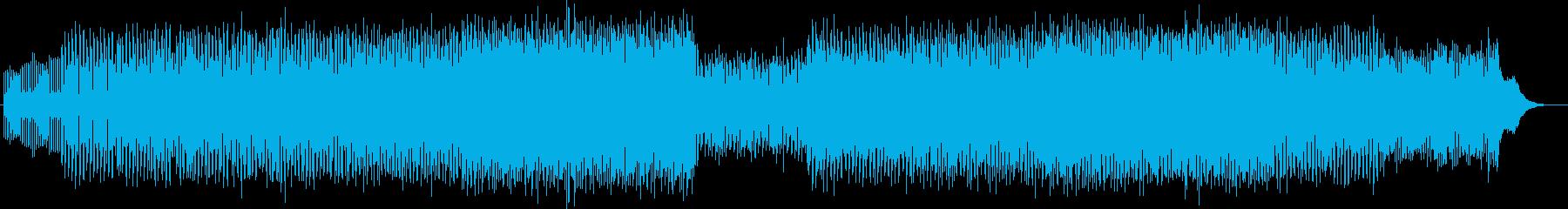幻想的でアップテンポなテクノミュージックの再生済みの波形