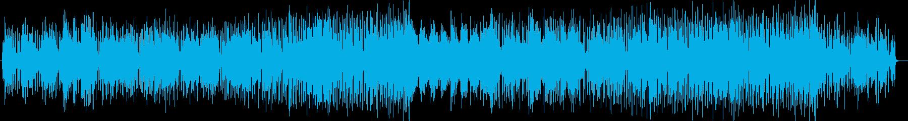 ゆったりと穏やかなポップバラードの再生済みの波形