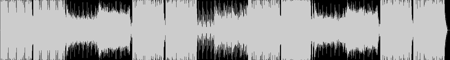 パンチの効いたバキバキのテクノの未再生の波形
