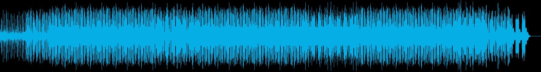 デジタルスクラッチなイメージの曲の再生済みの波形
