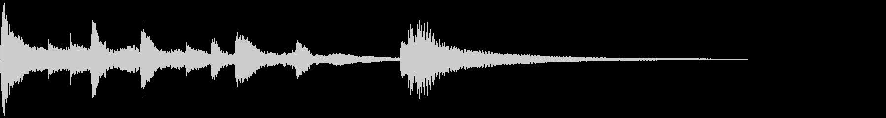 ピアノのショートジングル(中国風)の未再生の波形
