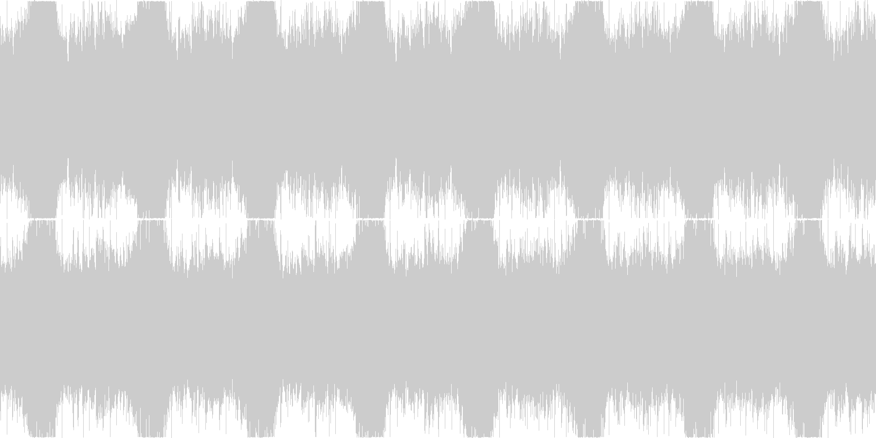 日本ホラーを意識したBGMの未再生の波形
