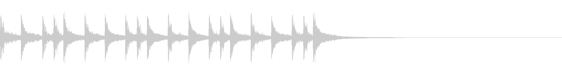 生ドラム_4小節リズムサンプリング   の未再生の波形