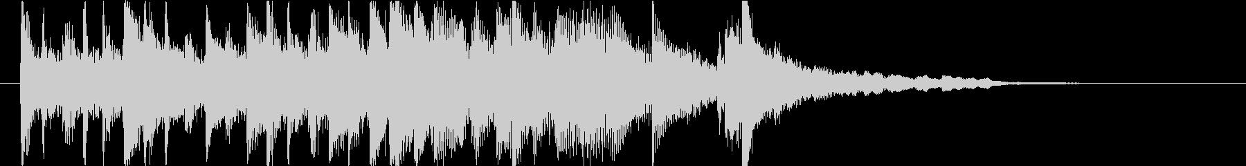 琴・尺八・和太鼓の上品な純和風ロゴの未再生の波形