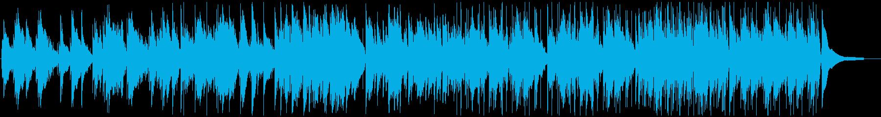 くつろぎのピアノとアコースティックギターの再生済みの波形