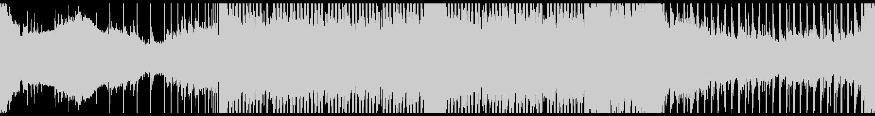 シンセメロによるループ音楽の未再生の波形