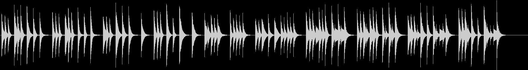 木琴の音色で作ったほのぼのとした短めの曲の未再生の波形